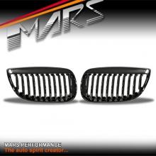 Gloss Black M6 Style Front Grille for BMW 3 Series E92 Coupe & E93 Convertible Pre LCI 06-09