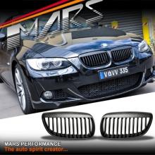 Matt Black M6 Style Front Grille for BMW 3 Series E92 Coupe & E93 Convertible Pre LCI 06-09