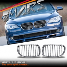 Chrome Silver Front Kidney Grille for BMW 7 Series F01 F02 F03 F04