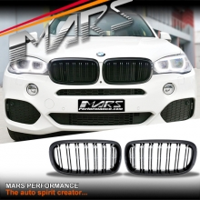 Gloss Black X6M Style Front Bumper bar Kidney Grille for BMW X5 F15 & X6 F16