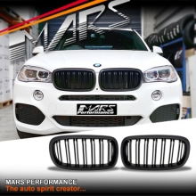 Matt Black X6M Style Front Bumper bar Kidney Grille for BMW X5 F15 & X6 F16