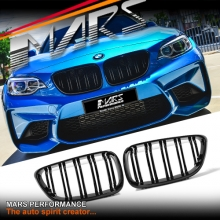 Gloss Black M2 Style Front Bumper Bar Kidney Grille for BMW 2 Series F22 14-16
