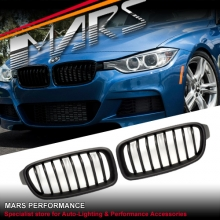 Matt Black M Performance Style Front Kidney Grille for BMW 3 Series F30
