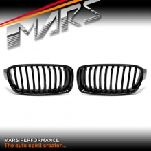 Gloss Black Front Bumper Bar Kidney Grille for BMW 3 Series F30