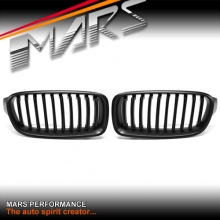 Matt Black Front Bumper Bar Kidney Grille for BMW 3 Series F30