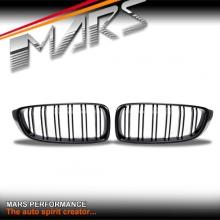 Matt Black M4 Style Front Bumper Bar Grille for BMW 4 Series F32 F33 F36 & F80 M3 F82 F83 M4
