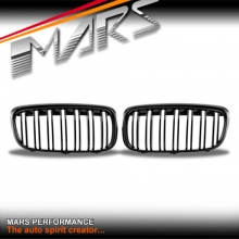 Gloss Black M Style Front Kidney Grille for BMW 2 Series F45 Active Tourer