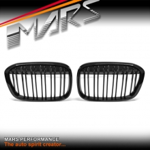 Gloss Black M Style Front Kidney Grille for BMW X1 F48 2015-2017