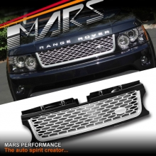 Autobiography Supercharged Style Front Grille for LAND ROVER Range Rover Sport L320 10-13 Gloss Black & Silver