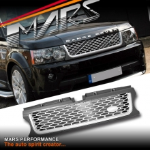 Autobiography Supercharged Style Front Grille for LAND ROVER Range Rover Sport L320 10-13 Matt Grey & Silver