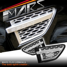 Autobiography Style Side Fender Air Vent for LAND ROVER Ranger Rover Sport L320 10-13 Gloss Black & Silver