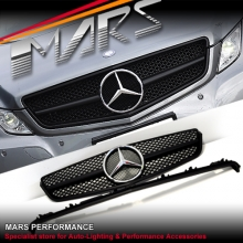 Matt Black AMG SLS Style Front Grille for Mercedes-Benz E-Class W207 C207 09-13