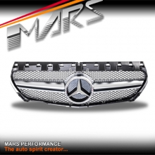 AMG CLA45 Style Chrome Silver Front Bumper Bar Grille for Mercedes-Benz CLA-Class X117 C117 13-16