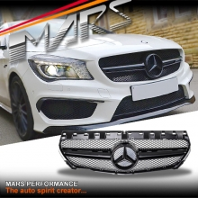 AMG CLA45 Style Gloss Black Front Bumper Bar Grille for Mercedes-Benz CLA-Class X117 C117 13-16