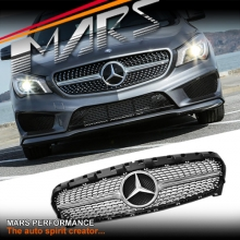 CLA250 Diamond STAR Style Front Bumper Bar Grille for Mercedes-Benz CLA-Class X117 C117 13-16