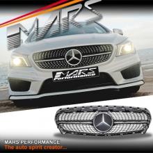 CLA250 Diamond STAR Style Front Bumper Bar Grille for Mercedes-Benz CLA-Class X117 C117 13-16