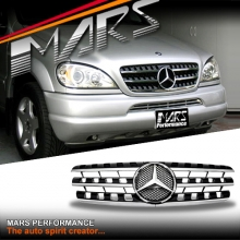 Chrome Black AMG ML63 Style Front Grille for Mercedes-Benz ML W163 98-05