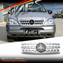Chrome Silver AMG ML63 Style Front Grille for Mercedes-Benz ML W163 98-05