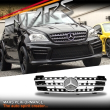 Chrome Black AMG Style Front Grille for Mercedes-Benz ML W164 06-08
