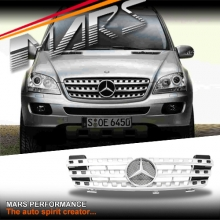Chrome Silver AMG Style Front Grille for Mercedes-Benz ML W164 06-08