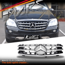 Chrome Black AMG ML63 Style Front Grille for Mercedes-Benz ML-Class W164 06-08