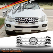Chrome Silver AMG ML63 Style Front Grille for Mercedes-Benz ML-Class W164 06-08