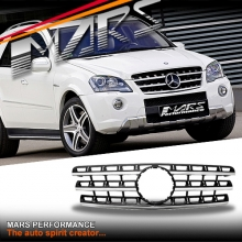 Chrome Black AMG ML63 Style Front Grille for Mercedes-Benz ML-Class W164 09-12
