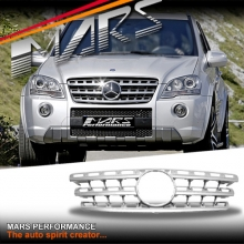 Chrome Silver AMG ML63 Style Front Grille for Mercedes-Benz ML-Class W164 09-12