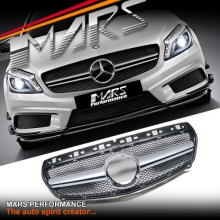 Silver Black A45 AMG Style Front Radiator Grille Gril for Mercedes-Benz A-Class W176 12-15