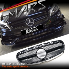 Gloss Black A45 AMG Style Front Radiator Grille Gril for Mercedes-Benz A-Class W176 12-15