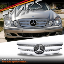 Chrome Silver CL3 Style Front Grille for Mercedes-Benz E-Class W211 03-06