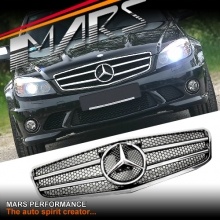 Chrome Black AMG C63 Style Front Grille for Mercedes-Benz C-Class W204 Sedan 07-10