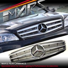 Chrome Silver AVANTGARDE Style Front Grille for Mercedes-Benz C-Class W204 Sedan 07-10