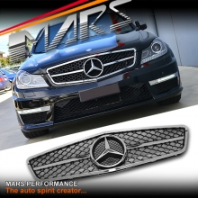 Chrome Black AMG C63 Style Front Grille for Mercedes-Benz C-Class W204 Sedan 11-14 & C204 Coupe