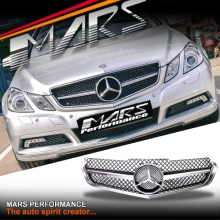 Chrome Black AMG SLS Style Front Grill for Mercedes-Benz E-Class W207 C207 09-13
