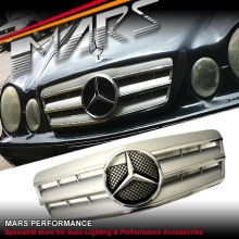 Chrome Silver CL 3 Style Front Grille for Mercedes-Benz CLK W208 C208 97-02