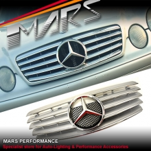 Chrome Silver CL 5 Style Front Grille for Mercedes-Benz CLK W208 C208 97-02