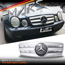 Chrome Silver CL3 Style Front Grille for Mercedes-Benz CLK W208 C208 97-02