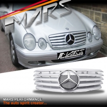 Chrome Silver CL5 Style Front Grille for Mercedes-Benz CLK W208 C208 97-02