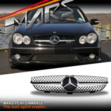 Chrome Black SLS AMG Style Front Grille for Mercedes-Benz CLK W209 C209 02-09