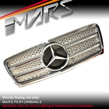 Chrome Silver AMG Style Front Grille for Mercedes-Benz E-Class W210 95-99