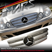 Chrome Silver CL3 Style Front Grill for Mercedes-Benz E-Class W211 03-06