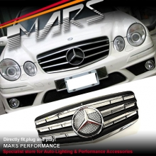 Chrome Black CL4 Style Front Grille for Mercedes-Benz E-Class W211 07-08