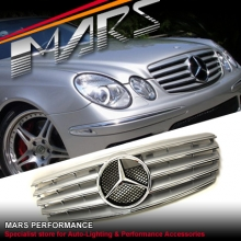 Chrome Silver CL5 Style Front Grille for Mercedes-Benz E-Class W211 07-08