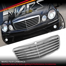 Chrome Black E63 Style Front Grille for Mercedes-Benz E-Class W211 07-08