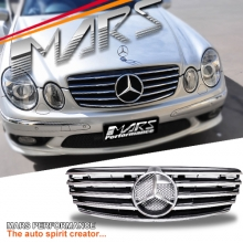 Chrome Black CL5 Style Front Grille for Mercedes-Benz E-Class W211 03-06