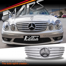 Chrome Silver CL5 Style Front Grille for Mercedes-Benz E-Class W211 03-06