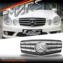 Chrome Black CL4 Style Front Bumper Bar Grille for Mercedes-Benz E-Class W211 facelift 07-08