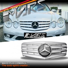 Chrome Silver CL4 Style Front Bumper Bar Grille for Mercedes-Benz E-Class W211 facelift 07-08