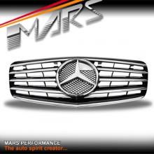Chrome Black CL5 Style Front Bumper Bar Grille for Mercedes-Benz E-Class W211 facelift 07-08